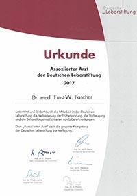 Assoziierter Arzt der Deutschen Leberstiftung